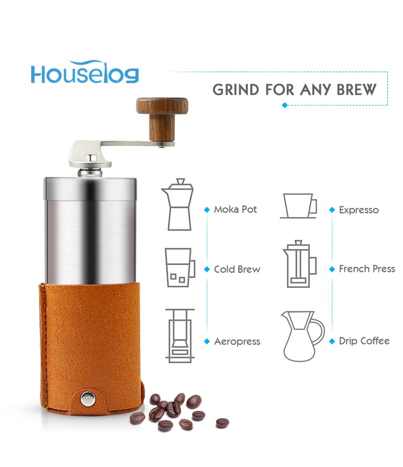 Portable Manual Coffee Grinder Set Professional Conical Ceramic ...